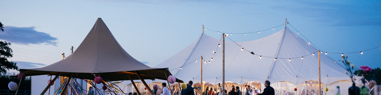 Pretty Petal 9m x 15m festival tents - Wedding Day Photos