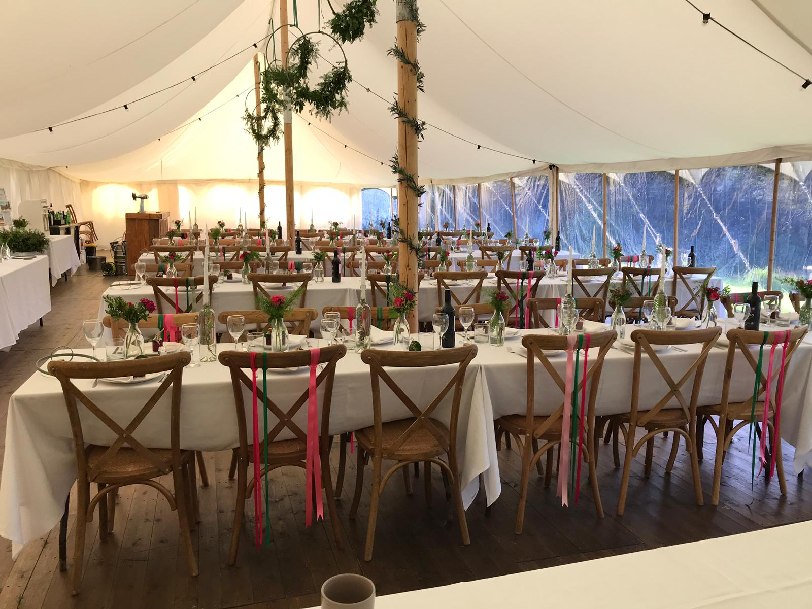 Pretty Petal marquee interior - Jon Hesketh photographer