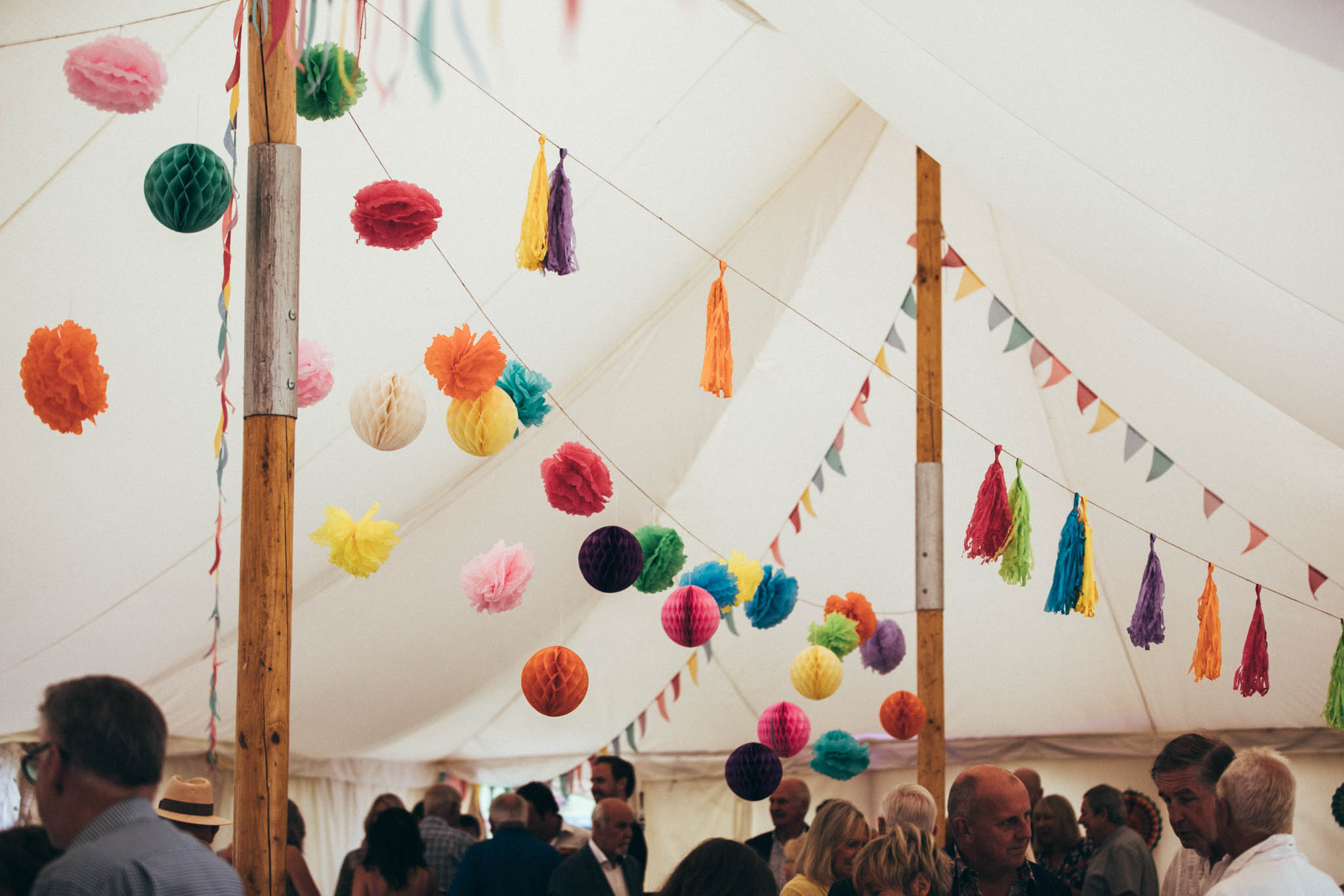 Pretty Petal marquee and pom-poms @Amy photographer
