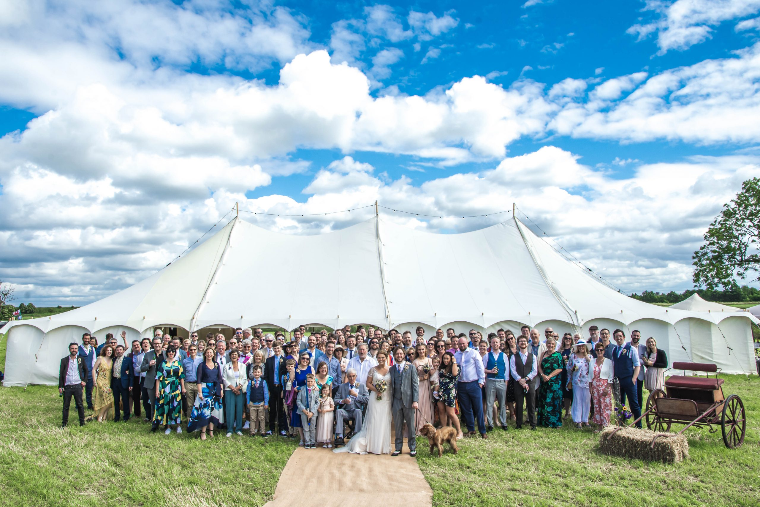 12m x 18m Pretty Petal marquee - L1 Photography