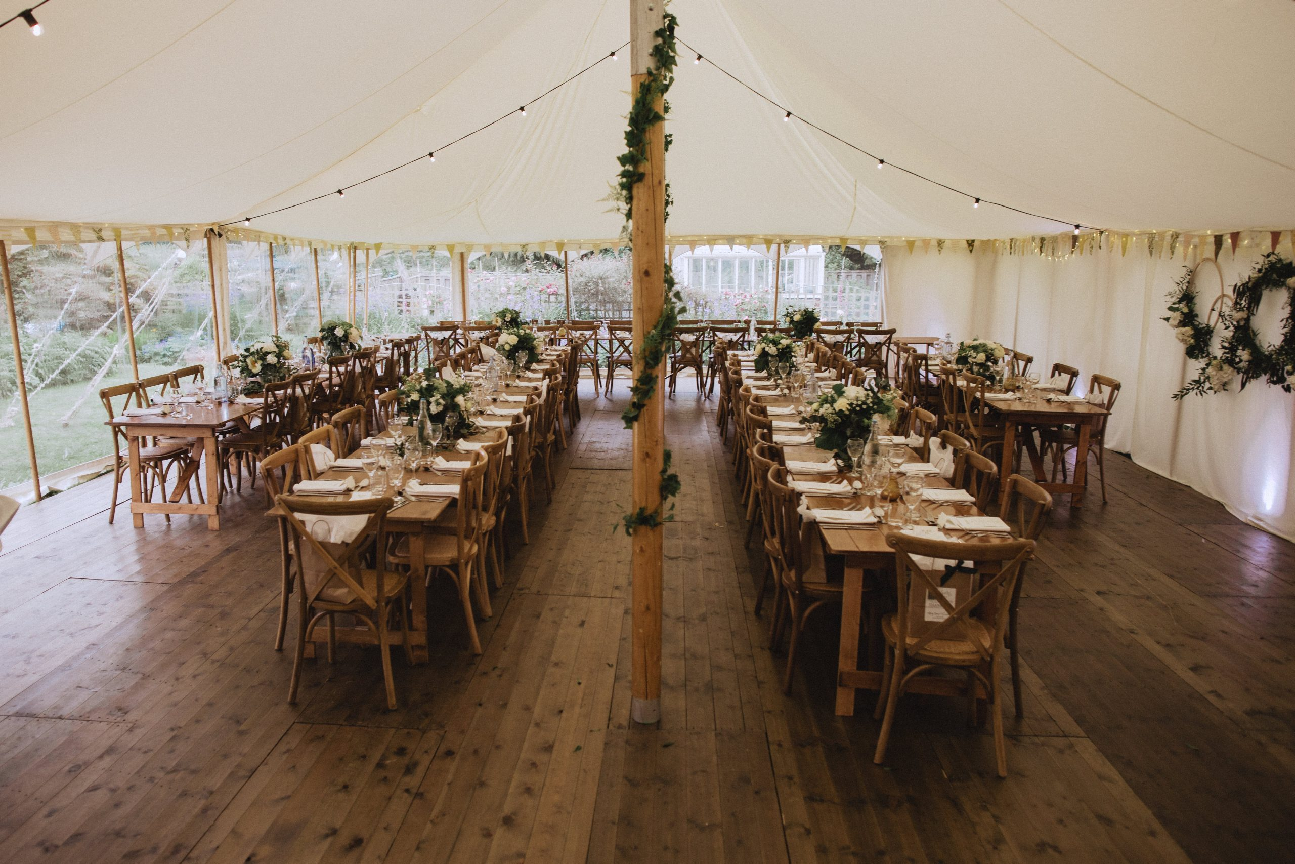 Pretty Petal marquee with floor