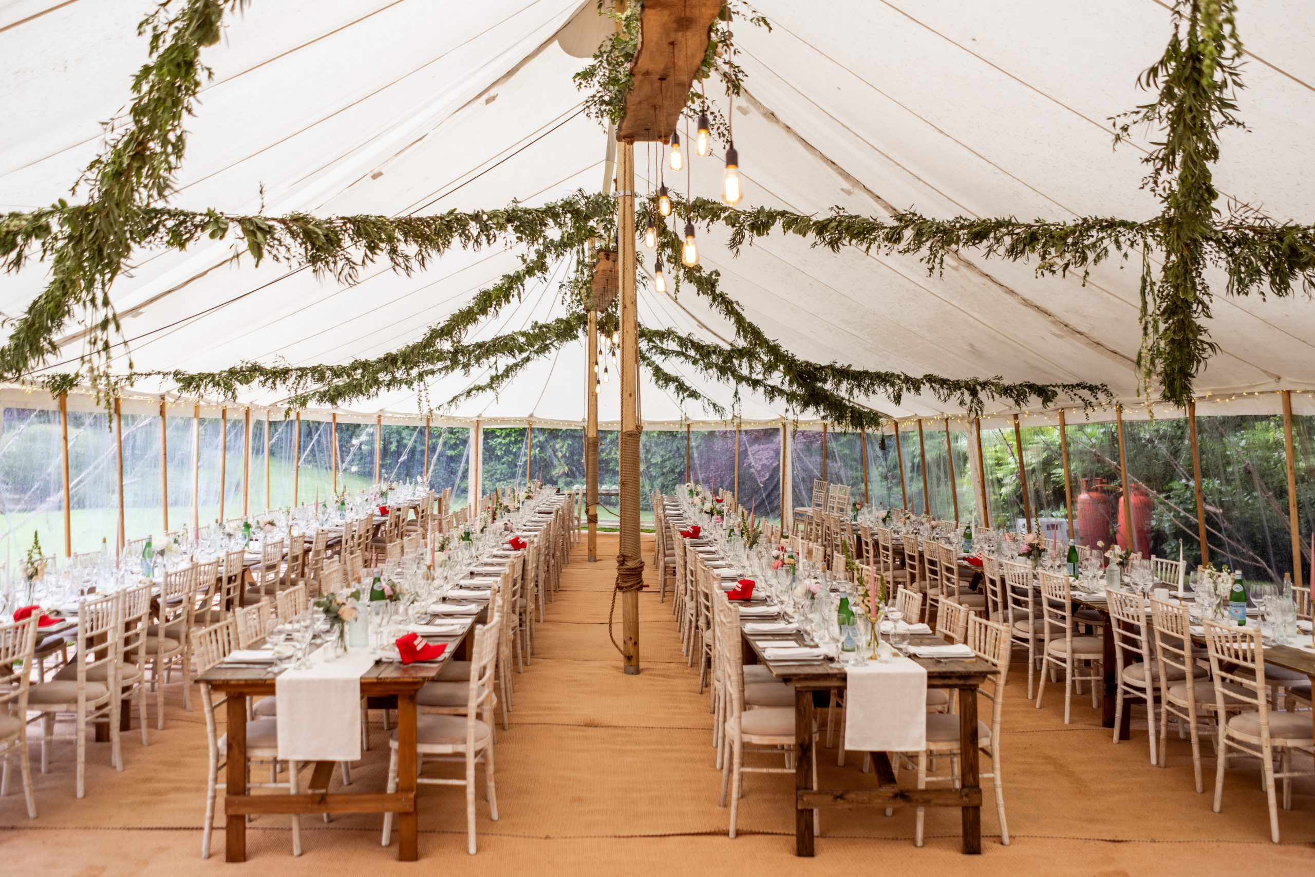 9m x 30m round ended marquee interior - Allister Freeman photographer