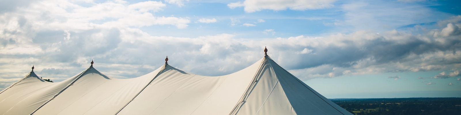 Petal marquee roof 9m x 27m